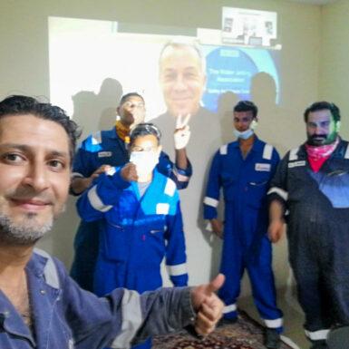 WJA training, Saudi Arabia