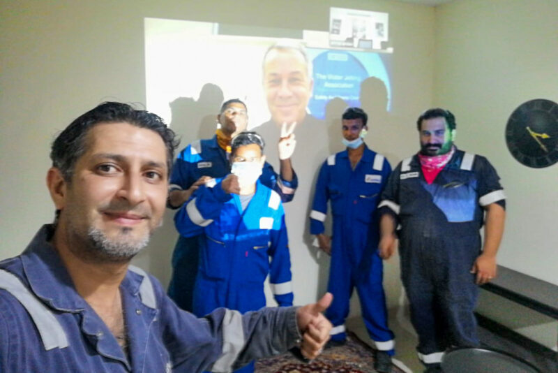 WJA training, Saudi Arabia